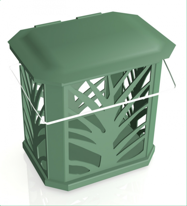 Vented Kitchen Compost Caddy