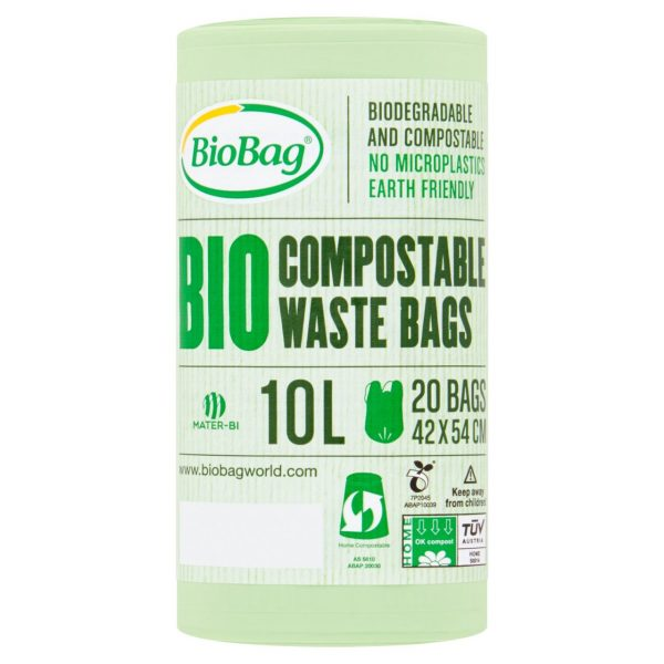 10L Roll of compostable waste bags