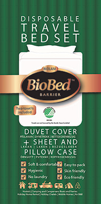 Disposable bedsheet and pillow case