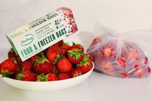 Compostable & Biodegradabl Food Freezer Strawberries