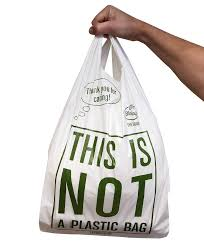 Biodegradable & Compostable Shopping Bag in hand